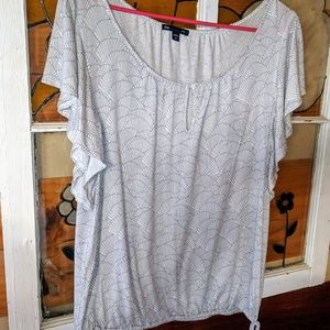 Tops - Gap women's medium shirt top flutter sleeves M
